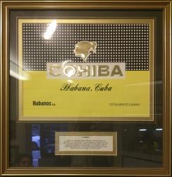 Havana Cohiba cigars certificate